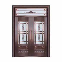 Hinged RE075 Outdoor Wooden Safety Door