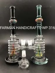 FUNKY SCTIKER  GLASS WATER SMOKING PIPES
