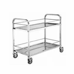 4 Wheel SS Kitchen Trolley