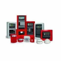 Plastic White & Red Fire Alarm System