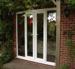 L Handle White UPVC Openable Door, 5 mm