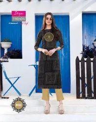 Diya Trendz Gardencity Vol 8 Series 8001-8020 Heavy Rayon Print Kurti