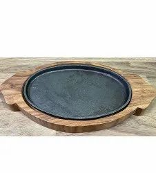 Platter Brown Wooden Serving Plate, For Hotel, Size: 15 Inch By 7 Inch