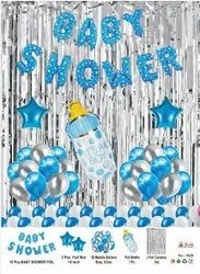 Foil Silver Baby Shower Combo Blue, Age Group: Newly Born