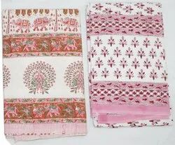 Sanganeri Handicraft Cotton Bedsheets