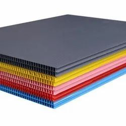 Yellow PP Corrugated  Sheets