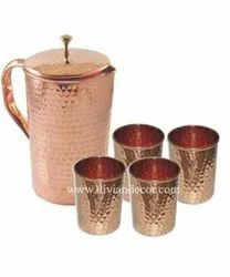Copper Jug Glass Set