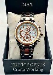 Men Round Casio Edifice Watches, For Formal