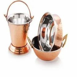 Brown Copper Serving Set, For Home Or Hotel, Size: Normal