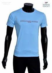 Round Half Sleeve Band T Shirt, Size: Medium