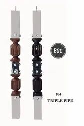 Triple Pipe 104 SS Wooden Master Pillar, For Construction