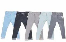 2 Guns Comfort Fit Mens Plain Cotton Jeans
