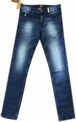 Faded Comfort Fit Men Denim Jeans