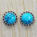 Lapis Lazuli Gemstone 925 Sterling Silver Jewelry Stud Earring SJWES-39