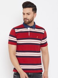 Harbor N Bay Men's Navy Blue Striped T Shirts