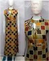 Party Wear Straight Ladies Fancy Printed Round Neck Rayon Kurti, Size: S To Xxl, Wash Care: Handwash