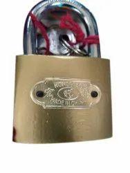 With Key Main Door Rectangular Brass Padlock, Padlock Size: 40 mm
