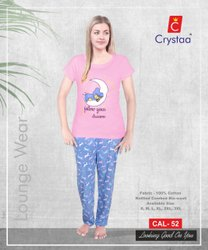 Womens's Loungewear Pink Top, 180gsm