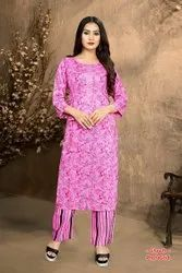 Rayon cotton Kurti with Plazo