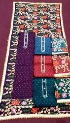 Sunil Textile Stitched Ladies Party Wear Embroidery Cotton Suit, Machine wash