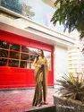 Designer Saree In Premium Moss Jari Panchuri Chiffon