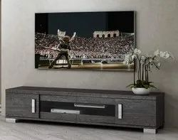 Grey Wooden LCD TV Stand, For Home