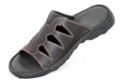 Black and Brown Mens Daily Wear Lakhani Slipper