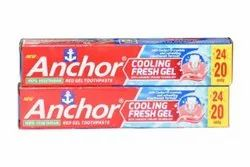 Cool Mint Anchor Cooling Fresh Gel Toothpaste, Packaging Size: 40 G