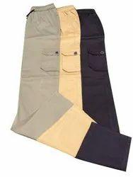 Cotton/Linen Plain Drawstring Cargo Pant, Size: L