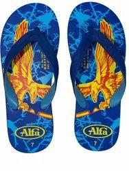 Alfa Mens Daily Wear Printed Rubber Slipper, Size: 4-5, 6-10