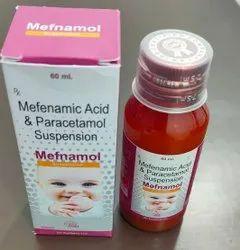 Mefenamic Acid 50mg + Paracetamol 125mg Suspension