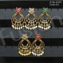 Antique Polki Chandbali Earrings
