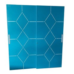 Blue Triple Door Slider Steel Cupboards