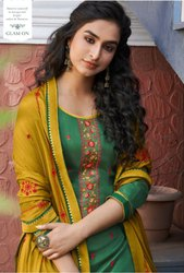 Kessi Patiyala House Vol 81 Cotton Satin With Work Patiyala Dress Material Catalog