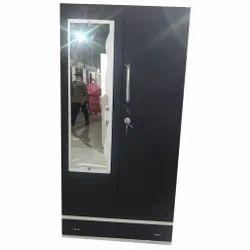Babji Black Alwin Lock Steel Dressing Almirah, For Home