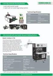 Mild Steel Automatic Auotmatic Non Woven Loop Handle Bag Making Machine, 5 Kw, Production Capacity: 25 Pcs Per Min