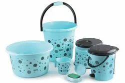 Plastic Bathroom Bucket Set