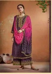 Bandhani Ladies Suit Material