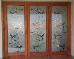 Aluminium Brown Designer Glass Window, For Home