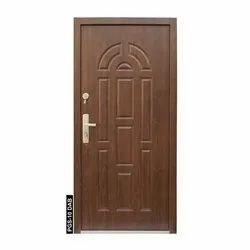 PGS-10 DAB Wooden Finish Steel Door, Thickness: 70 Mm