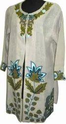 Cotton Casual Wear Ladies Designer Embroidered Kurti, Size: S-XXL, Wash Care: Machine wash