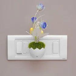 Unbranded White Mushroom LED Color Changing Sensor Based Night Lamp, For Indoor