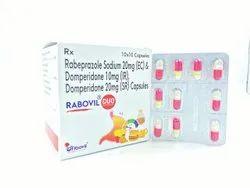 Rabeprazole Sodium  20 Mg (E C) + Domperidone 20 mg (As S R ) + Domperidone 10mg (As I S)