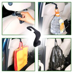 Maitri Metal Car Backseat Head Rest Hook/Hanger, For Hanging
