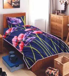Single Bed Micro Floral Printed Dohar Blanket