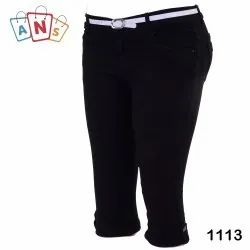 Girl Black Kids Capri