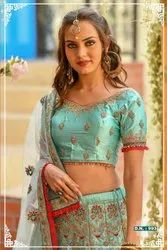 Peafowl Vol 63 Chennai Silk Resham Zari Stone Work Bridal Lehenga Choli Collection Catalog