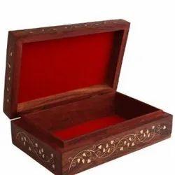 Rectangle Printed Wooden Designer Craft Box