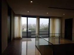Pristine White UPVC Balcony Door, For Home