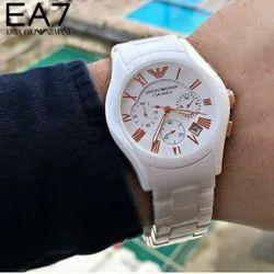 White Analog Emporio Armani Watch